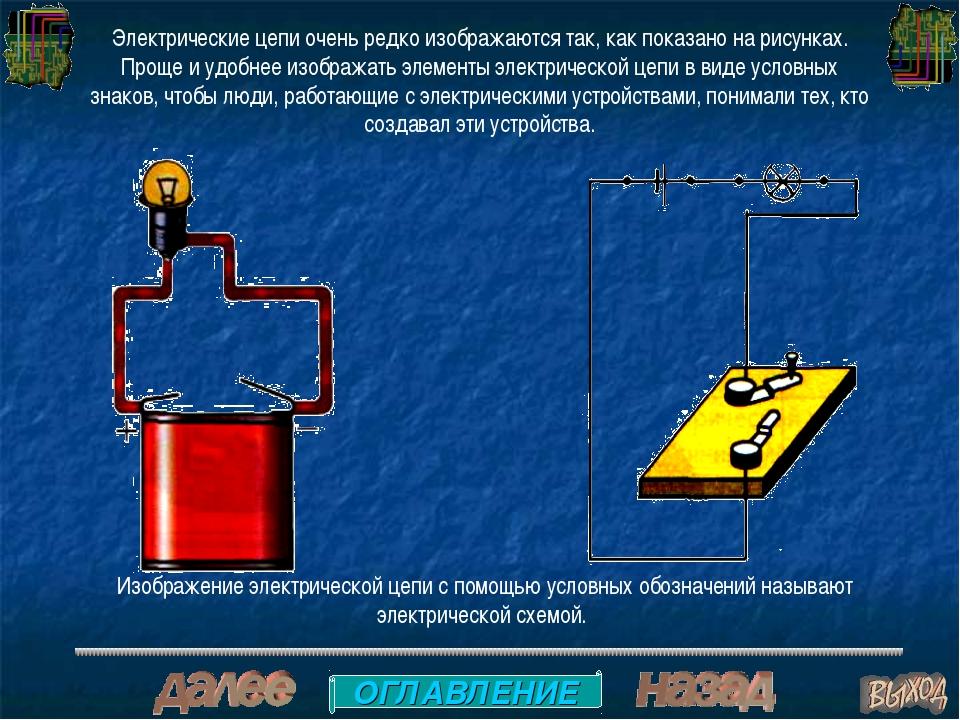 Электрические цепи очень редко изображаются так, как показано на рисунках. Пр...