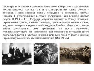Несмотря на искреннее стремление императора к миру, в его царствование России