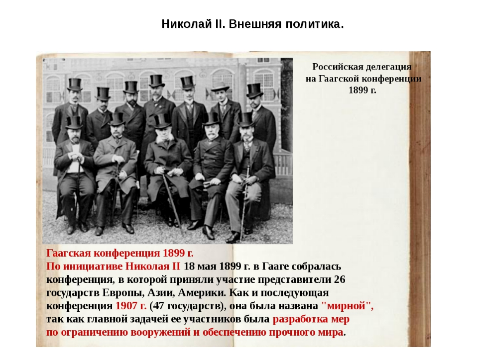 Николай II. Внешняя политика.