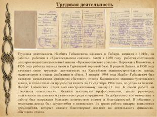 Трудовая деятельность Трудовая деятельность Надбита Габышевича началась в Сиб
