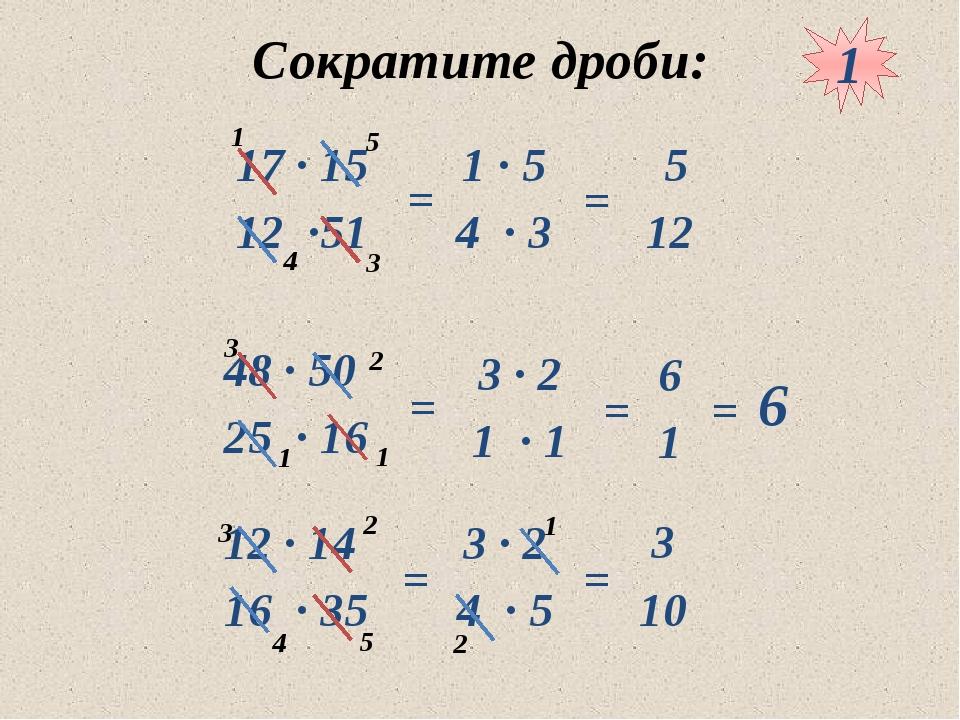 10.05.2012 www.konspekturoka.ru Сократите дроби: = = = = = 6 = = 1 1 3 4 5 1...