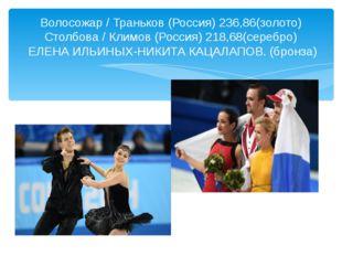Волосожар / Траньков (Россия) 236,86(золото) Столбова / Климов (Россия) 218,