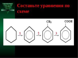 Составьте уравнения по схеме