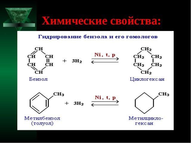 Химические свойства: