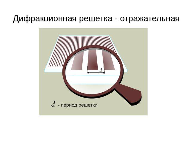 Дифракционная решетка - отражательная
