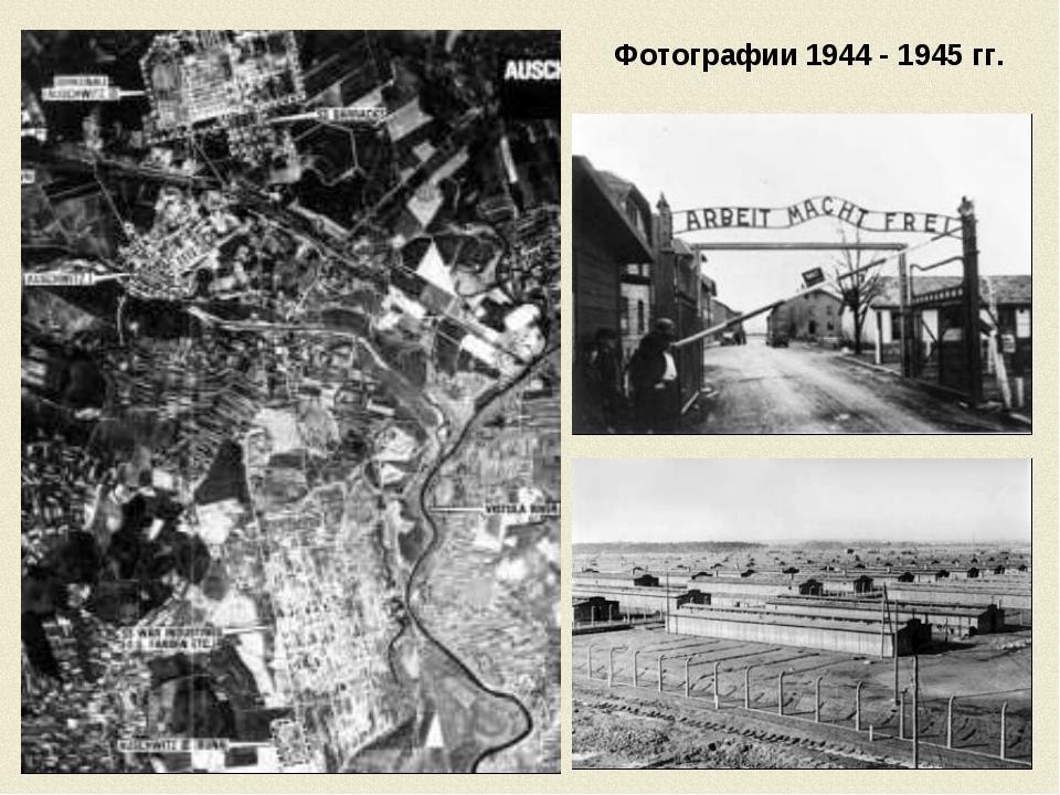 Фотографии 1944 - 1945 гг.