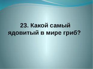 23. Какой самый ядовитый в мире гриб?