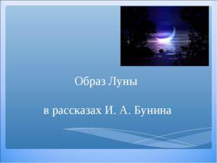 Образ Луны в рассказах И. А. Бунина