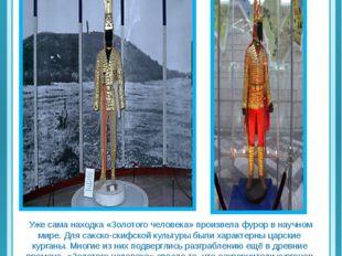 «Золотой человек» Уже сама находка «Золотого человека» произвела фурор в нау