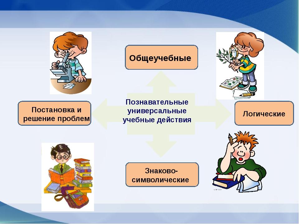 Познавательные универсальные учебные действия Общеучебные Знаково-символичес...