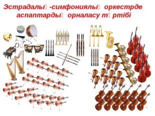 Эстрадалық-симфониялық оркестрде аспаптардың орналасу тәртібі