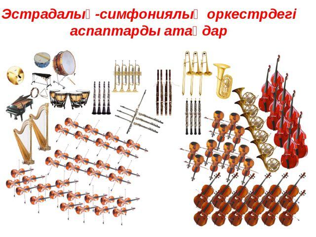 Эстрадалық-симфониялық оркестрдегі аспаптарды атаңдар