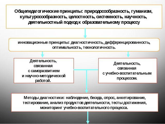 Общепедагогические принципы: природосообразность, гуманизм, культуросообразно...
