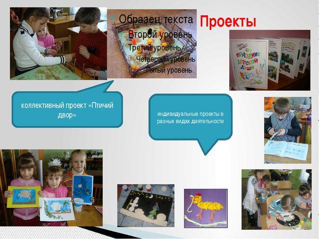 Проекты коллективный проект «Птичий двор» индивидуальные проекты в разных ви...