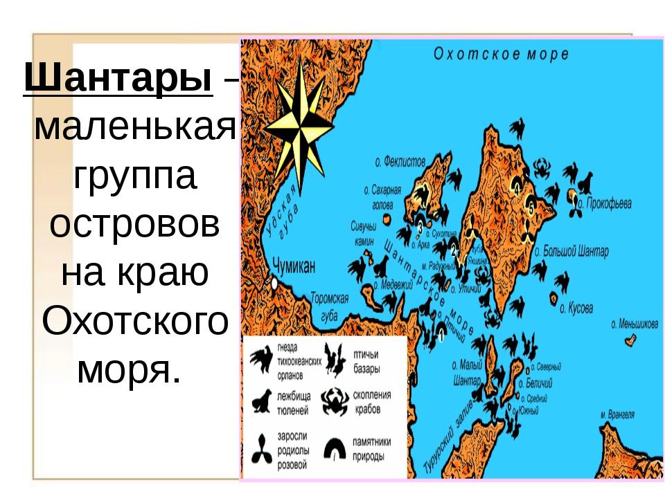 Шантары – маленькая группа островов на краю Охотского моря.