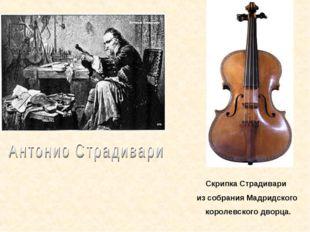 Скрипка Страдивари из собрания Мадридского королевского дворца.
