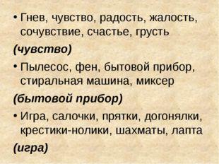 Гнев, чувство, радость, жалость, сочувствие, счастье, грусть (чувство) Пылесо