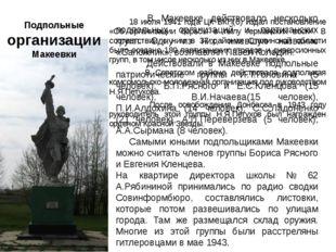 Подпольные организации Макеевки 18 июля 1941 года ЦК ВКП(б) издал постановлен