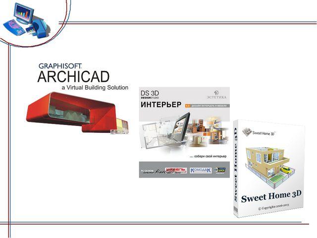 1 – ArchiCAD, 2 - DS 3D Интерьер, 3 -