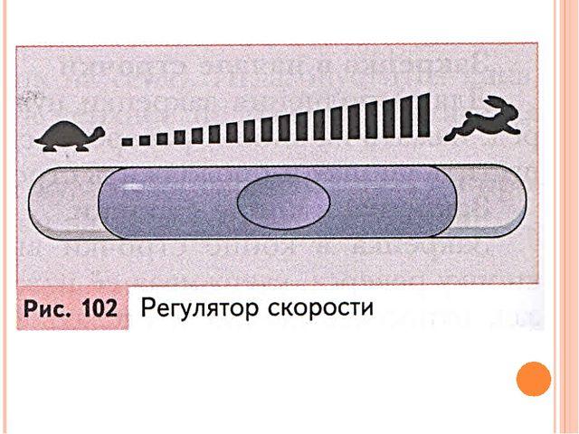 Регулятор скорости позволяет задать скорость шитья (рис. 102).