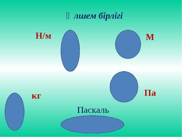 Өлшем бірлігі М Н/м кг Па Паскаль