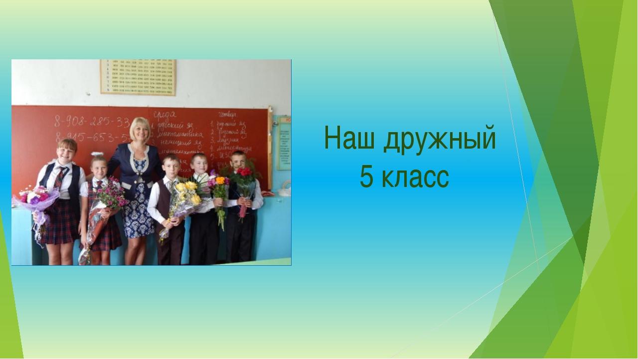 Наш дружный 5 класс