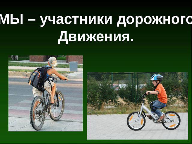 МЫ – участники дорожного Движения.
