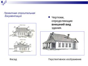 Проектная строительная документация Чертежи, определяющие внешний вид здания.