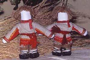 Тряпичные куклы столбушки