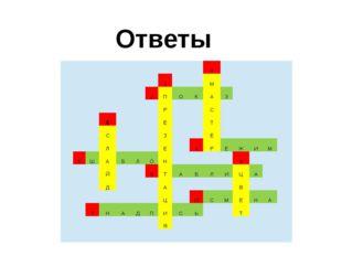Ответы 3 1 М 2 П О К А З Р С 6 Е Т С З Е Л Е 4 Р Е Ж И М 5 Ш А Б Л О Н 9 Й 8