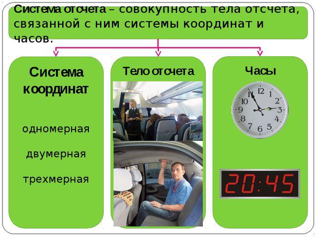 Система отсчета – совокупность тела отсчета, связанной с ним системы координа...