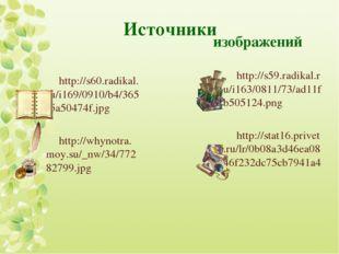 Источники http://s60.radikal.ru/i169/0910/b4/365f5a50474f.jpg http://whynotra
