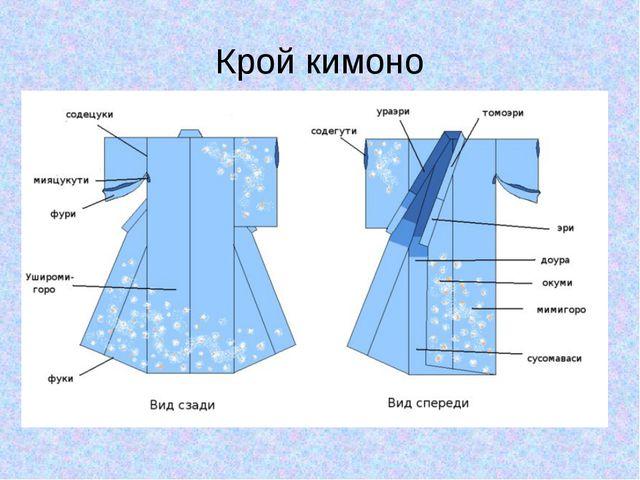 Крой кимоно