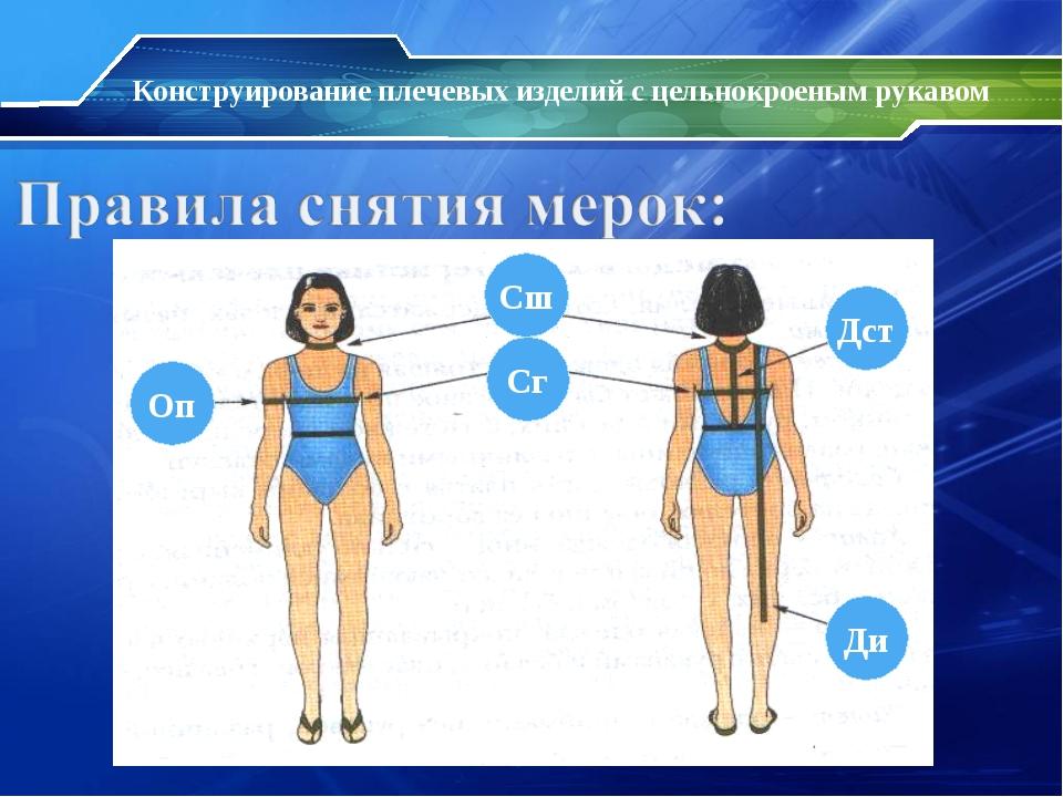 Конструирование плечевых изделий с цельнокроеным рукавом