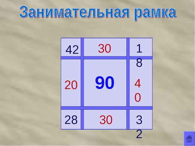 90 42 28 18 32 20 30 40 30