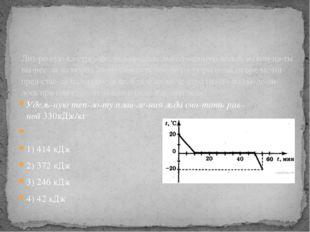Удельную теплоту плавления льда считать равной330кДж/кг  1) 414 кДж