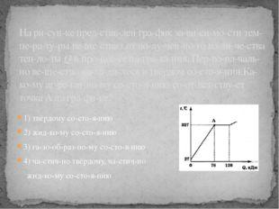 1) твёрдому состоянию 2) жидкому состоянию 3) газообразному сос
