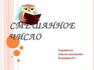 СМЕШАННОЕ ЧИСЛО Разработала учитель математики Валишина Р.Т.