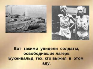 Вот такими увидели солдаты, освободившие лагерь Бухенвальд тех, кто выжил в э