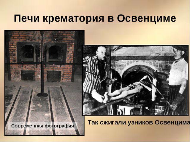 Печи крематория в Освенциме Современная фотография Так сжигали узников Освенц...