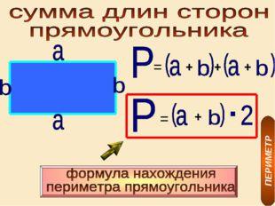 + + + = = + ПЕРИМЕТР