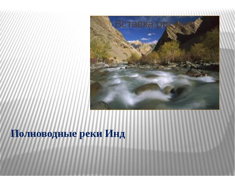 Полноводные реки Инд