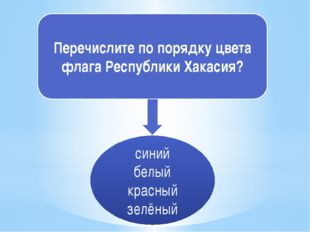 Перечислите по порядку цвета флага Республики Хакасия? синий белый красный зе