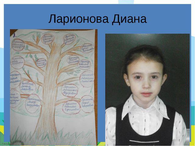 Ларионова Диана FokinaLida.75@mail.ru