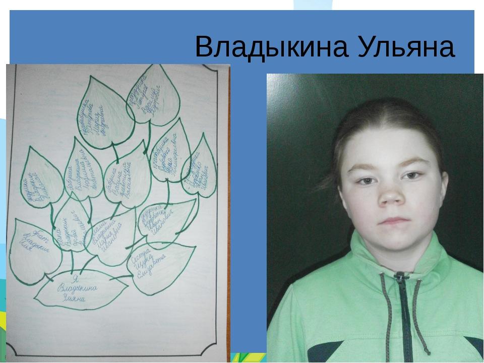 Владыкина Ульяна FokinaLida.75@mail.ru