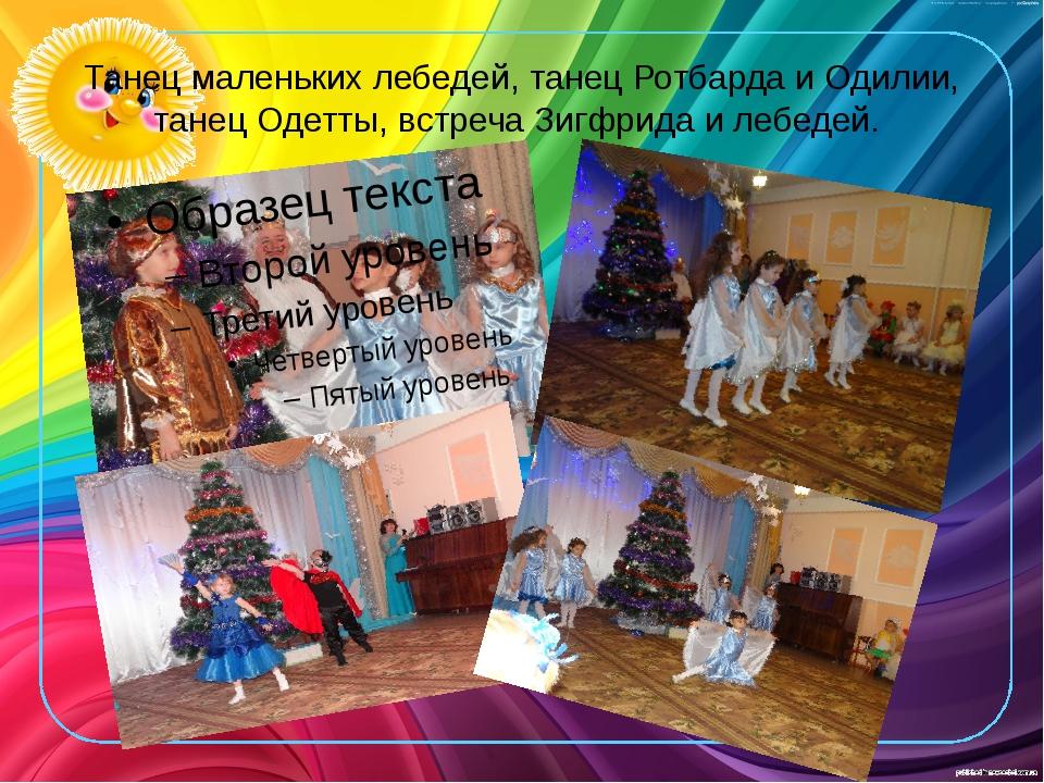 Танец маленьких лебедей, танец Ротбарда и Одилии, танец Одетты, встреча Зигфр...
