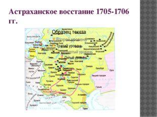 Астраханское восстание 1705-1706 гг.