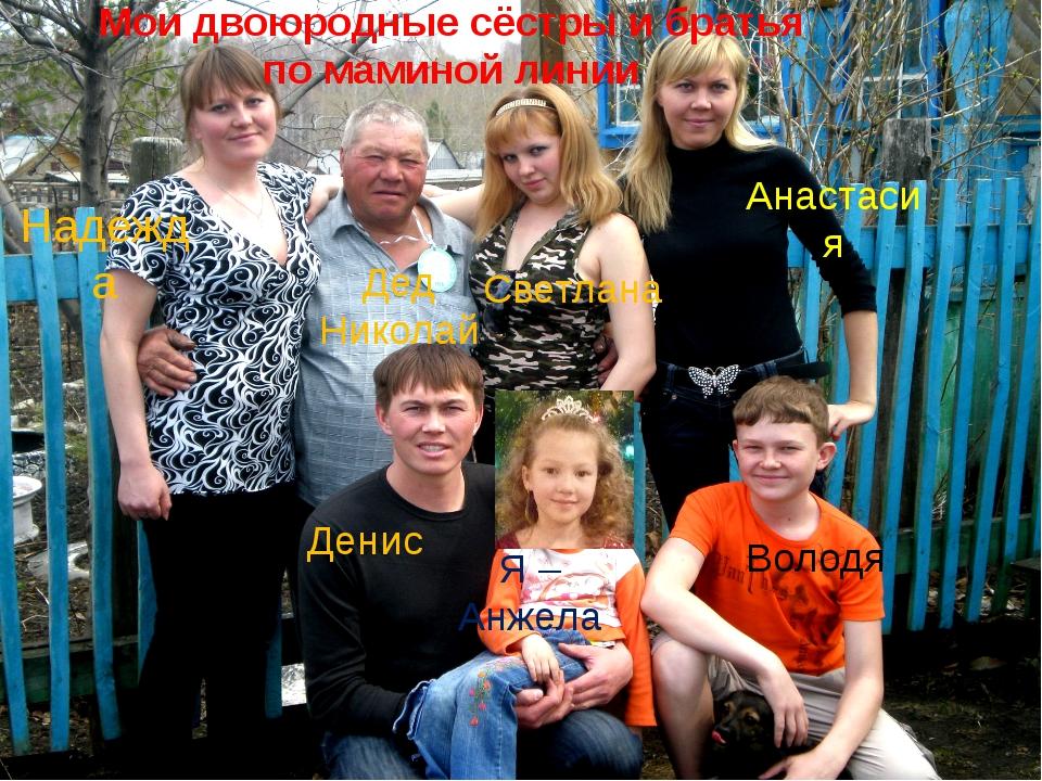 Мои двоюродные сёстры и братья по маминой линии Я –Анжела Надежда Денис Волод...