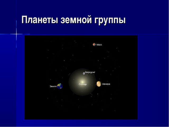 Планеты земной группы