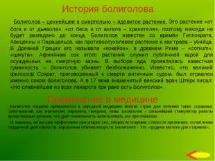 История болиголова Болиголов – ценнейшее и смертельно – ядовитое растение. Эт